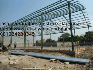 konstruksi lapangan futsal
